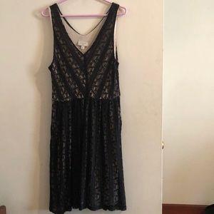 Anthropologie Moulinette Soeurs Lace Overlay Dress